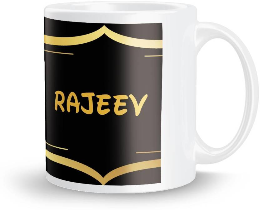 Posterchacha Rajeev Name Tea And Coffee For Gift Self Use Ceramic Mug