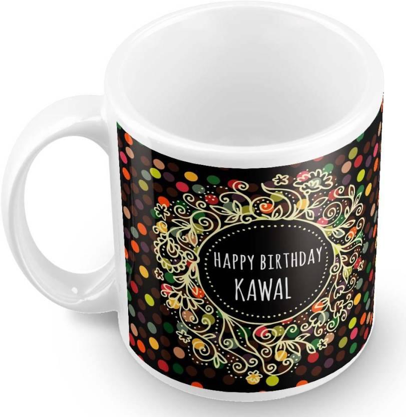 Posterchacha Kawal Name Happy Birthday Gift Ceramic Mug 330 Ml