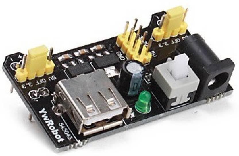 Kimaginations 3 3V & 5V Power Supply Module for Bread Board Arduino  Raspberry Pi Multipurpose Controller
