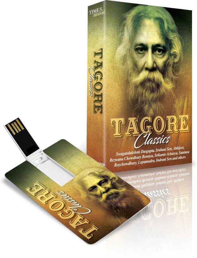 Music Card: TAGORE CLASSICS  320 kbps MP3 Audio  Pendrive Standard Edition Bengali   SWAGATALAKSHMI DASGUPTA, SANTANU ROYCHOWDHURY, SOUNAK CHATTOPADHY