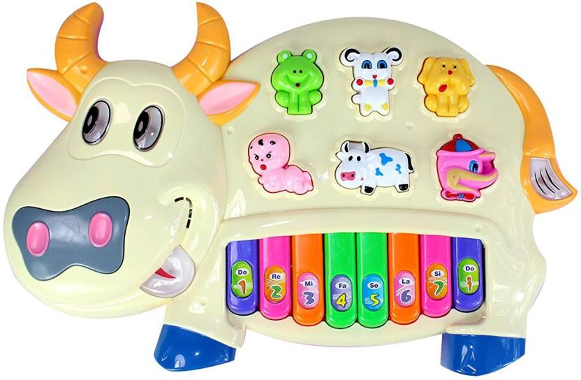 3c5f1f35d3 Shree Krishna Handicrafts And Gallery Musical Cow Educational Piano Keyboard  Toy Game for Kids (Multicolor)