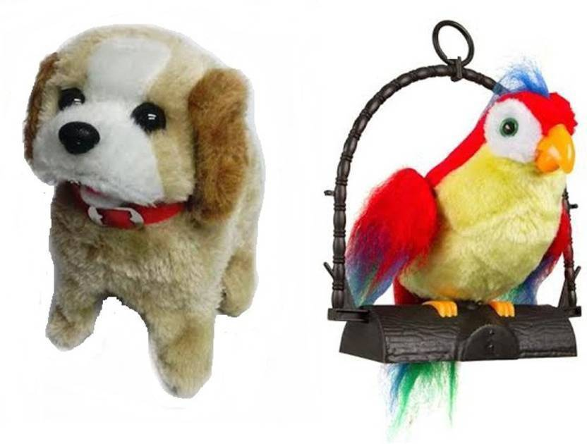 Play Design Jumping Dog and Talking Parrot 2 Musical Toy
