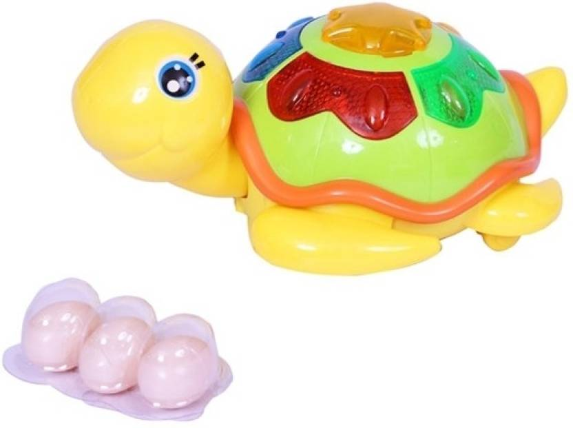 aashirwad craft lay egg tortoise with music and lights toy lay egg