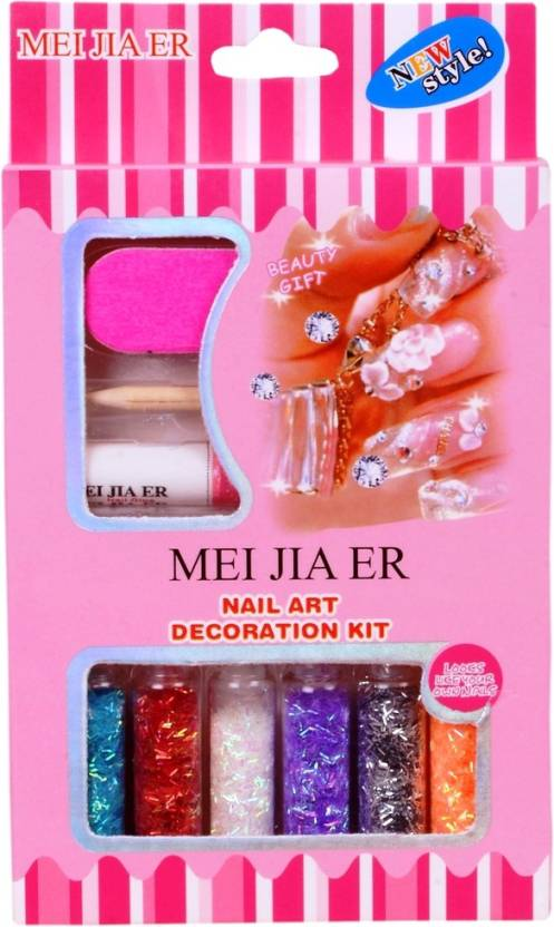 MEI JIA ER NAIL ART DECORTION KIT (STICK TYPE) WITH GLUE STICK ...