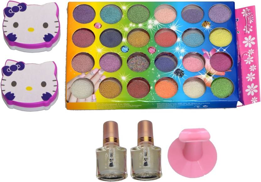 Imported Nail Art Caviar Beads Decoration Set 24 Colours Price In