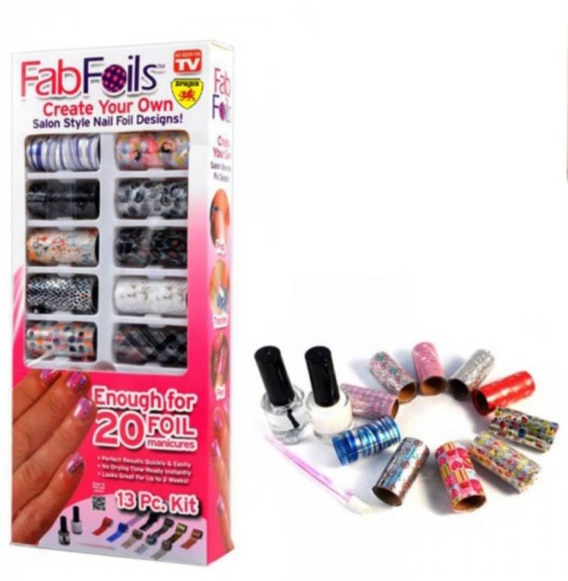 Cpex Fab Foils 13 Pcs Salon Style Nail Art Kit Price In India Buy