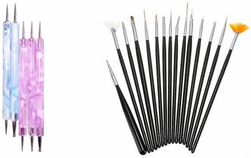 Palakz 20Pcs Nail Art Design Dotting Painting Drawing Brush Pen ...