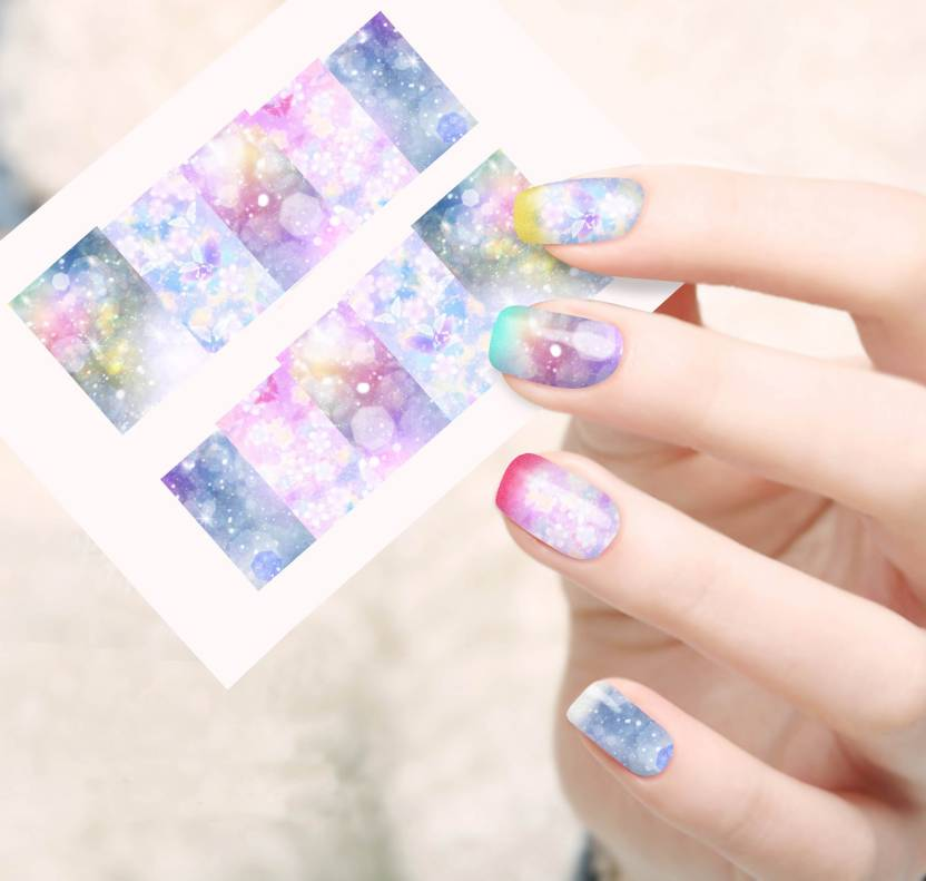 Jenna Manicure Water Transfer Nail Art Decals Stickers Sapphire
