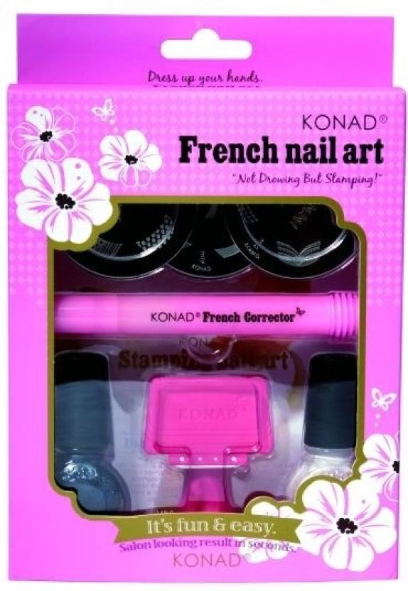 Konad stamping nail art kit french tip set price in india buy konad stamping nail art kit french tip set prinsesfo Images