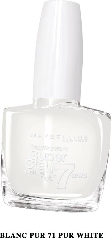 Maybelline Super Stay Gel Nail Color Pur white, 71 - Price in India ...