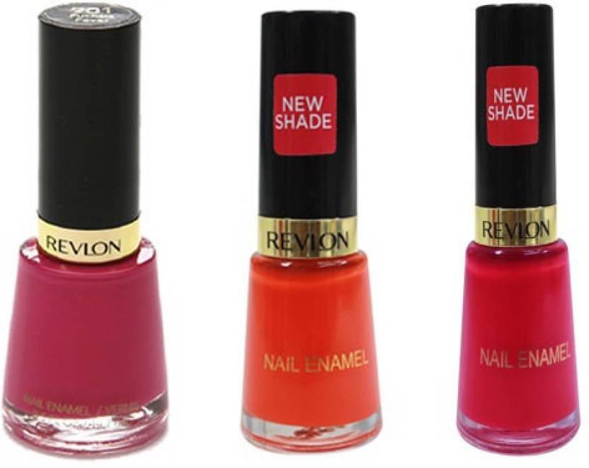 Revlon Nail Polish Set Of 3 Purple, Pink, Orange - Price in India ...