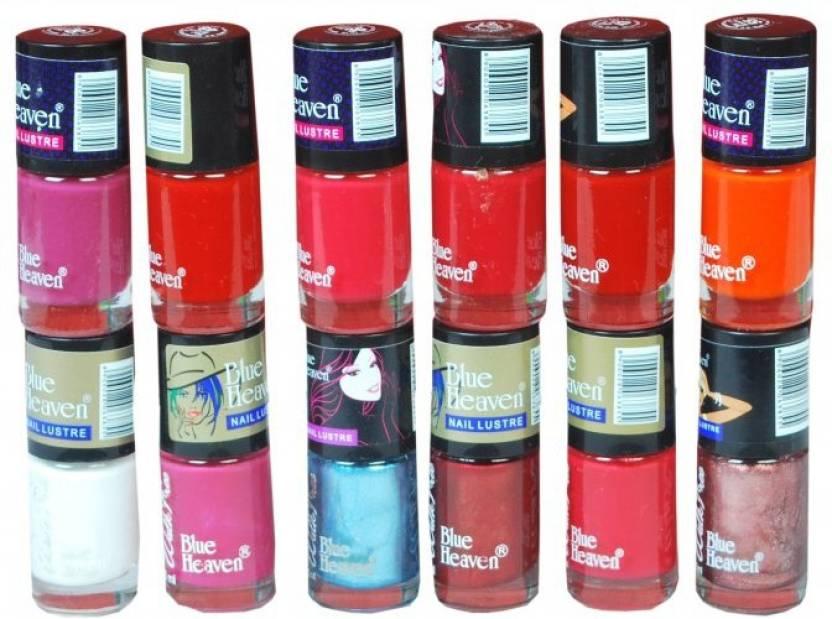 Blue Heaven Walkfree Nailpaint Set 5 Multicolour - Price in India ...