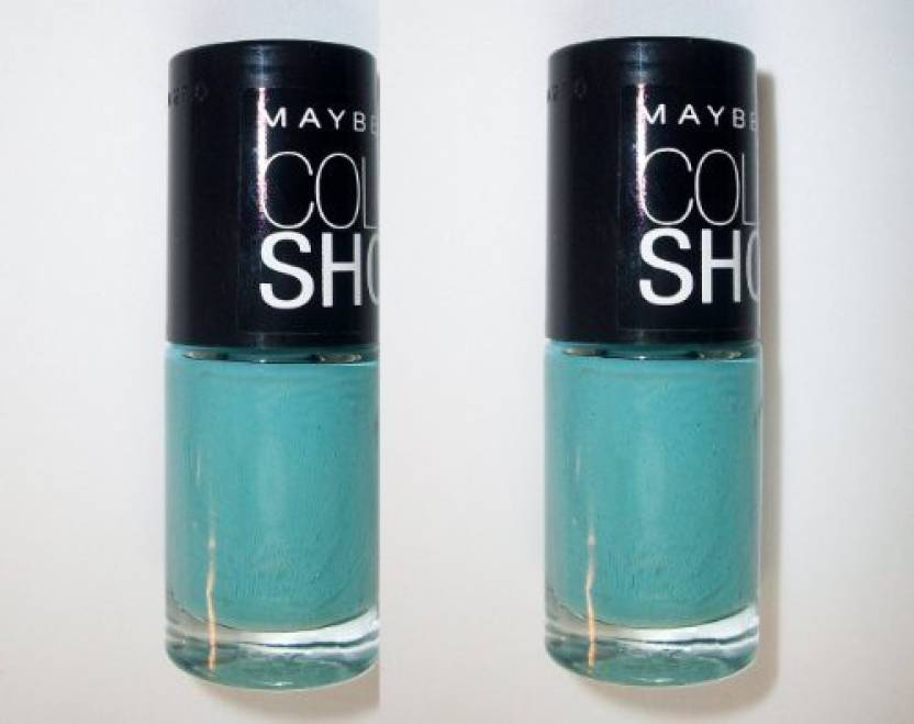 Maybelline Color Show Limited Edition Nail Polish 955 Turquoise Paradise 2 Pack Glow