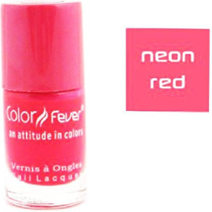 Color Fever Neon Red Nail Polish Red - Price in India, Buy Color ...