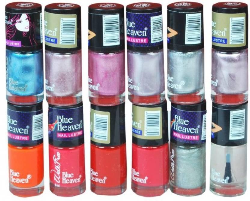 Blue Heaven Walkfree Nailpaint Set 6 Multicolour - Price in India ...