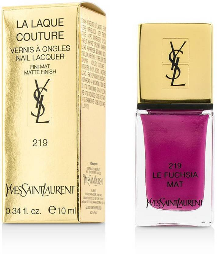 069398a45a6 Yves Saint Laurent La Laque Couture Nail Lacquer The Mats 219 Le Fuchsia  Mat - Price in India, Buy Yves Saint Laurent La Laque Couture Nail Lacquer  The Mats ...