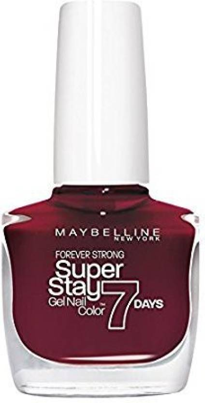 Maybelline Super Stay Gel Nail Color midnight red, 287 - Price in ...