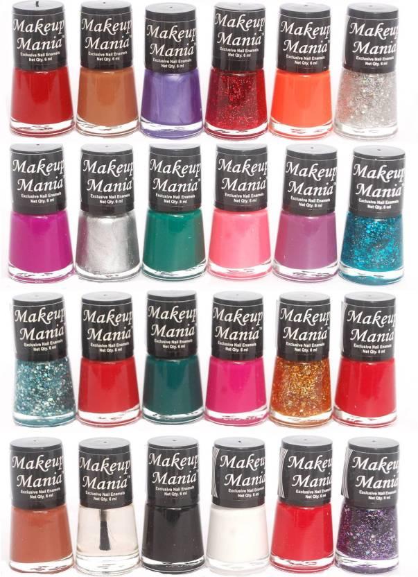 Makeup Mania Exclusive Nail Polish Set Of 24 Pcs Multicolor 76 81