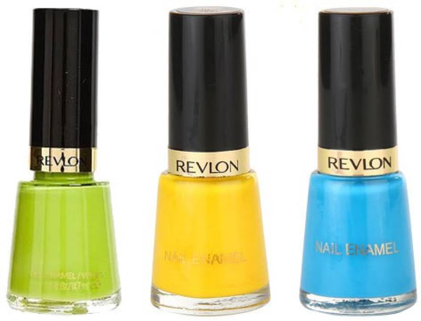Revlon Nail Polish Set Of 3 Combo Green, Yellow, Blue - Price in ...