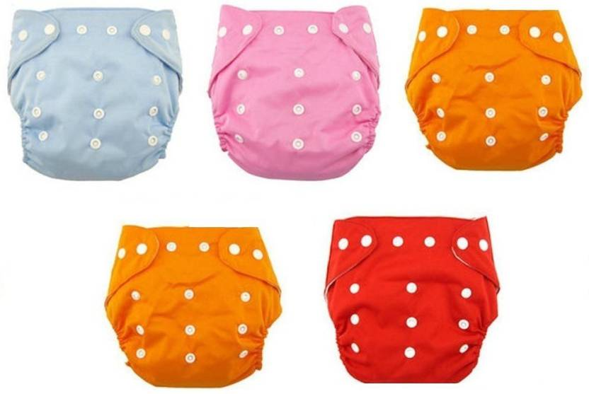 b0bb6100cc0 N M New Adjustable Reusable Lot Baby Washable Cloth Diaper Nappies Pack Of  5 - Buy Baby Care Products in India
