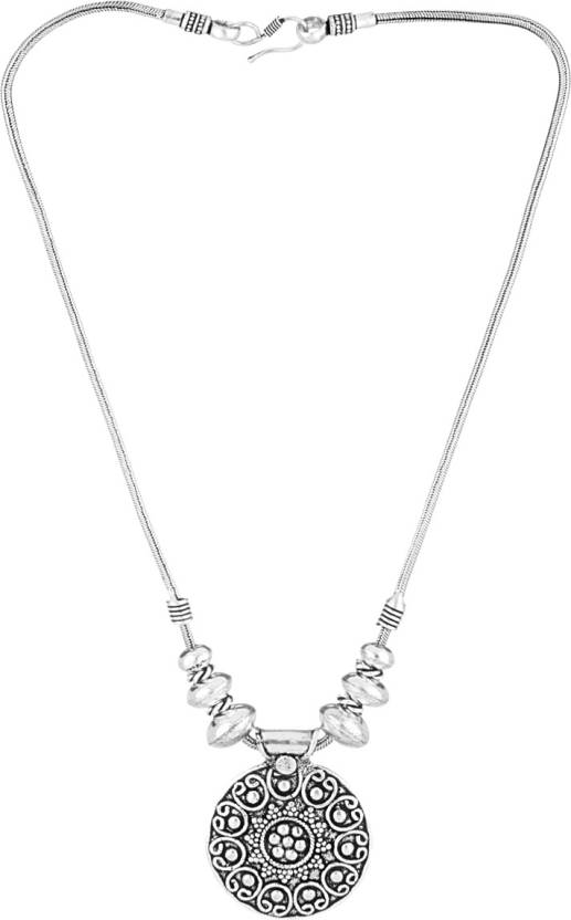 70f0b7155bba9 Voylla Artificial Classic Oxidised Silver Plated Alloy Necklace