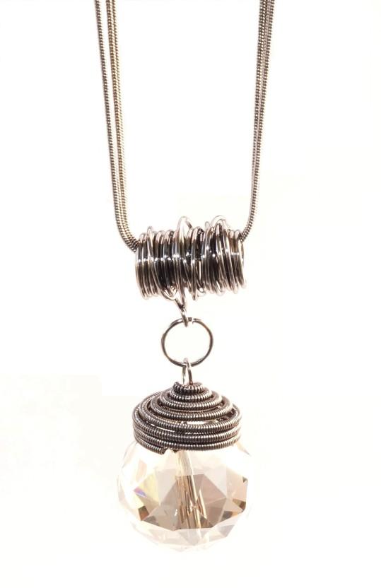 Diamond Big Drop Pendant Necklace Jewelry Long Paragraph Sweater Chain