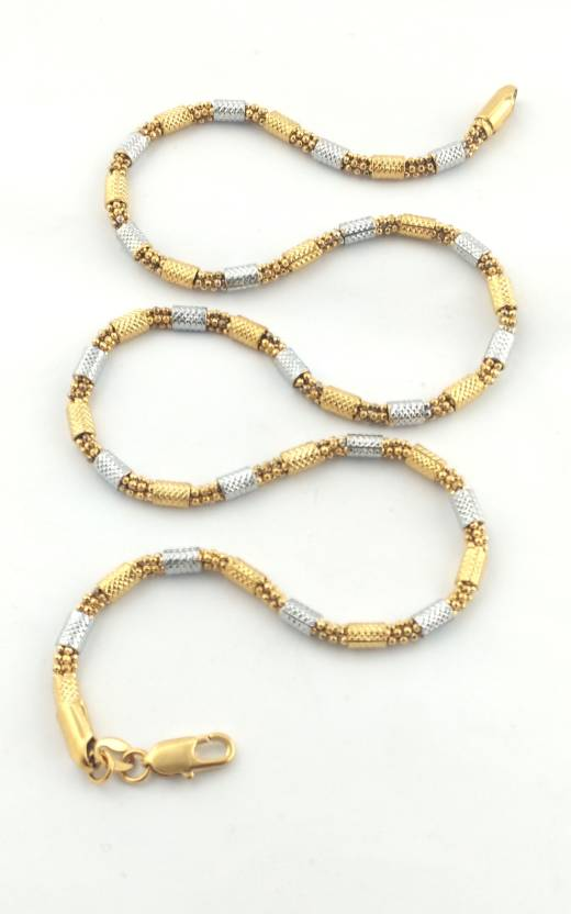3be7ca667278 JH jewellery golden charmi Gold-plated Plated Brass Chain Price in India -  Buy JH jewellery golden charmi Gold-plated Plated Brass Chain Online at  Best ...