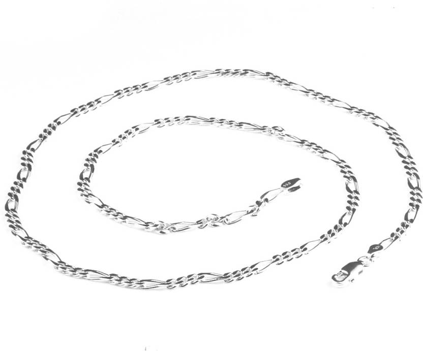 530254e3c5ac4a Swank Silver Latest Exclusive Design 925 Pure Sterling Silver Figaro Chain  for Men, Boys ,