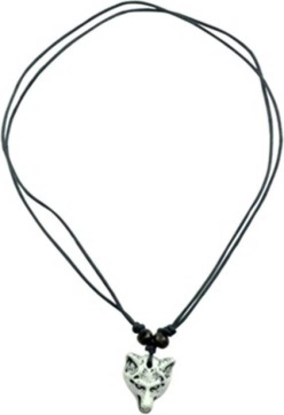 Alpha Man Lone Wolf Of The Dar Leather Necklace Price in