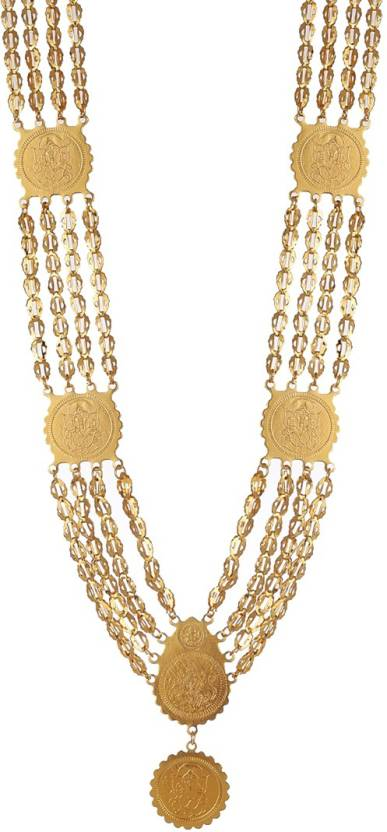 66df3d6af2e7c Zeneme Ganesh Laxshmi Gold-Plated Multi-Strand Temple Coin Necklace Alloy  Necklace Price in India - Buy Zeneme Ganesh Laxshmi Gold-Plated  Multi-Strand ...