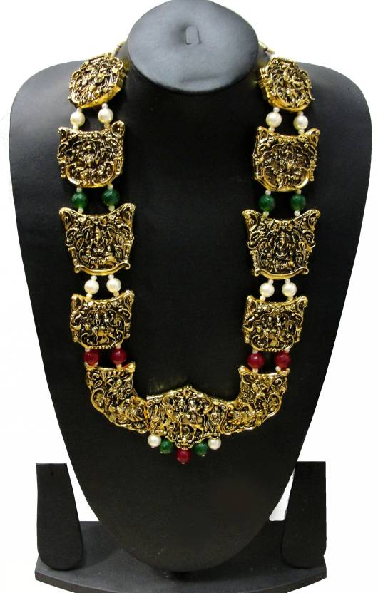 Zaveri Pearls Temple Jewellery Alloy Necklace