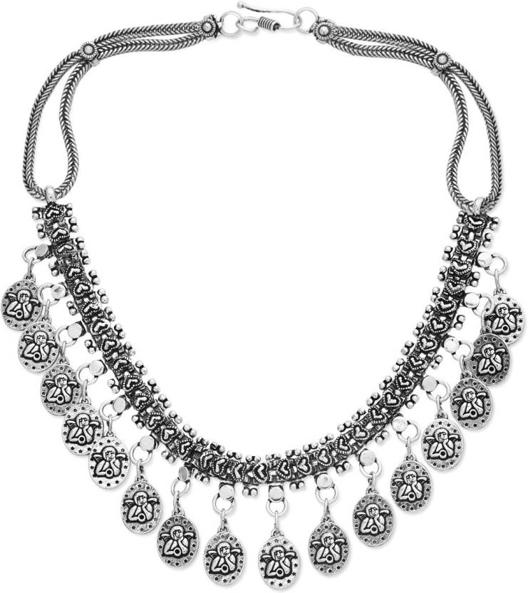 Watch Me German Silver Necklace For Women Elephant Ing Around Alloy
