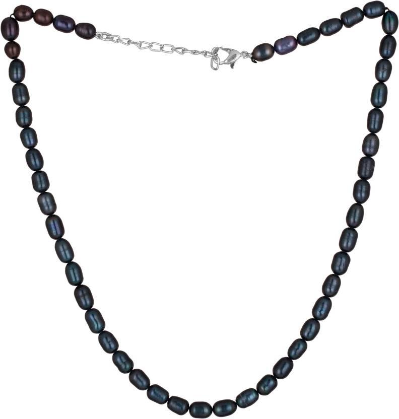 c6eeaeec4d638 Vishal Gems Black Hyderabadi Pearls Pearl Cotton Dori Necklace Price ...