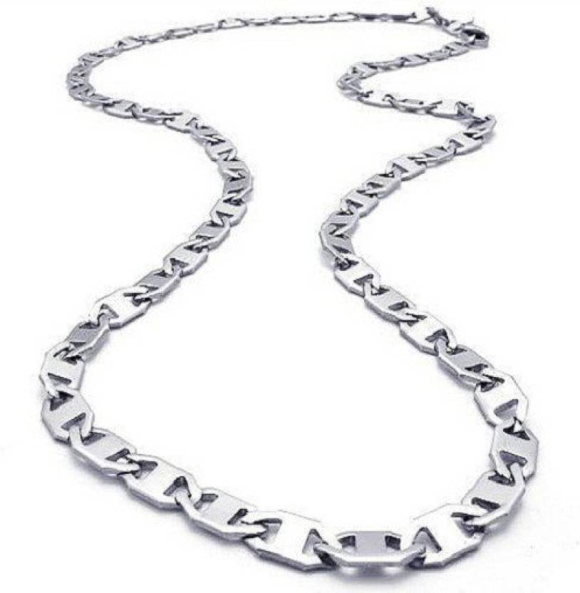 Gandhi Jewellers Italian Linked Up Silver Chain | Buy Gandhi ...