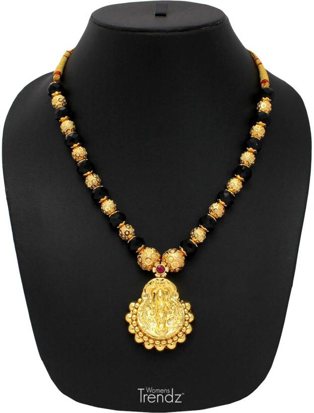 womens trendz laxmi pandal unique haar crystal yellow gold plated