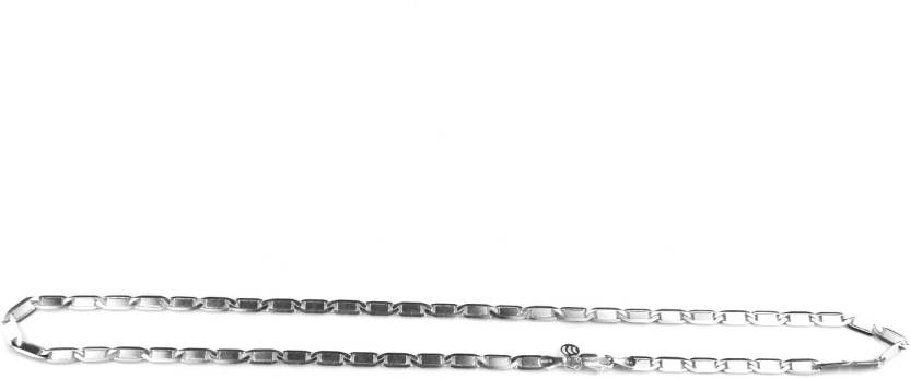 74a35d96df4888 Arisidh Exclusive Stylish Design 925 Pure Sterling Silver Chain with  Rhodium Coating for Men, Women
