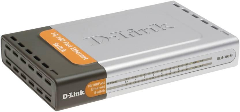 D-Link 8-Port 10/100Mbps switch with 100 base-FX fiber Port