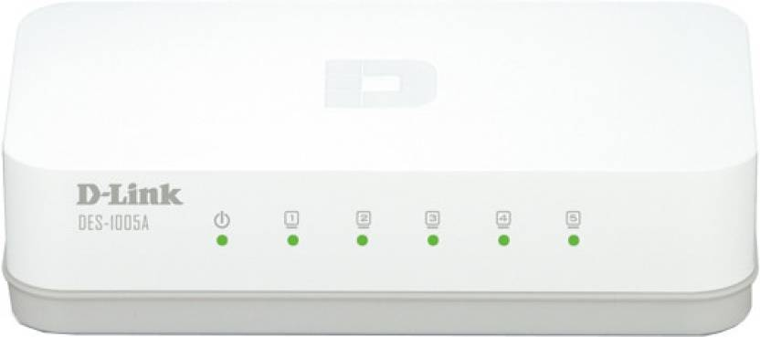 D-Link 5-Port 10/100 Desktop Switch Network Switch
