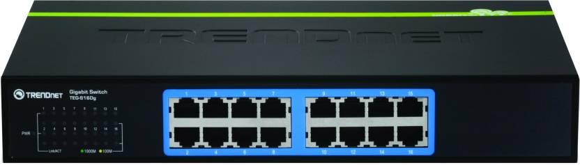 TRENDnet 16-Port Gigabit GREENnet Switch Network Switch
