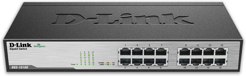 D-Link 16-Port 10/100/1000Mbps Network Switch