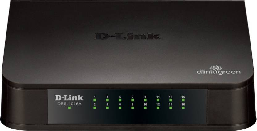 D-Link DES-1016A 16-Port 10/100 Network Switch