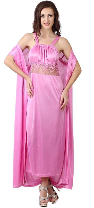 Fasense Women s Nighty - Buy Pink Fasense Women s Nighty Online at ... 39b1f3db9