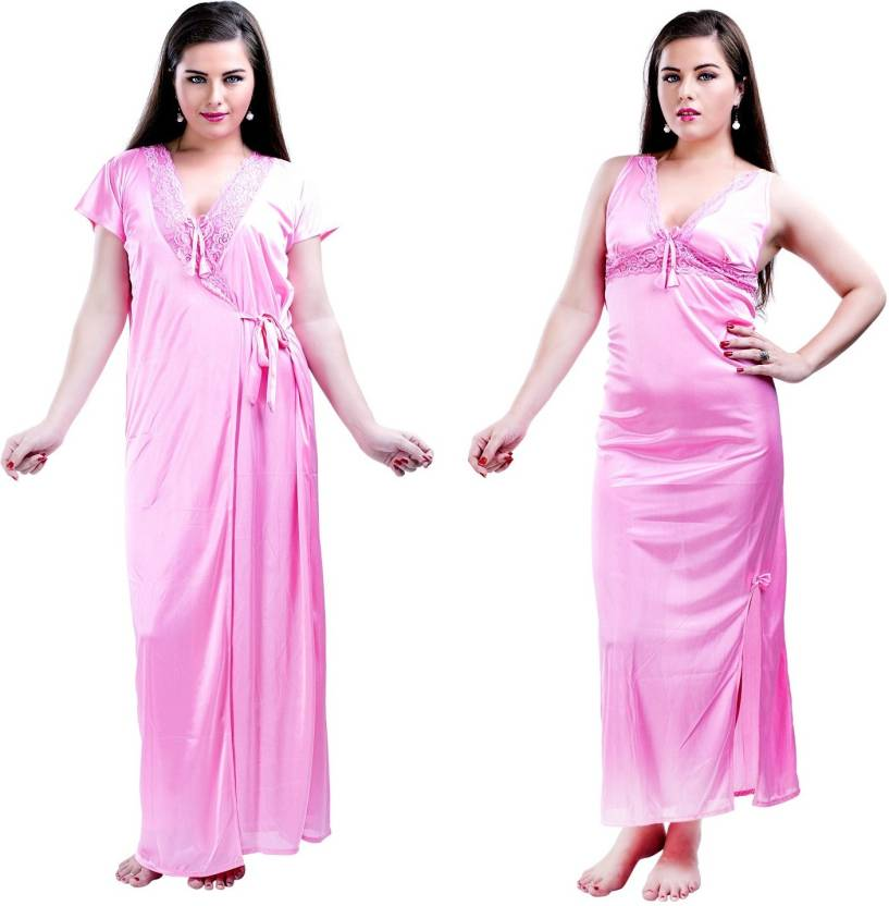 2ef692915c Hot N Sweet Women s Nighty - Buy Pink Hot N Sweet Women s Nighty ...