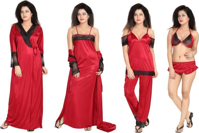 2360fb4a78 Bluemoon Garments Women s Nighty Set - Buy red Bluemoon Garments ...