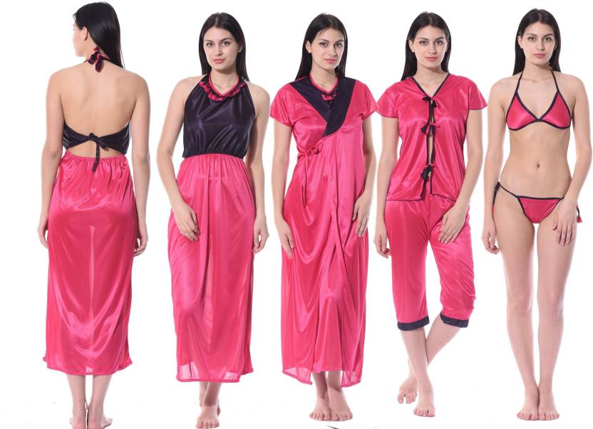 eac762a275 Fabme Women s Nighty Set - Buy Pink Fabme Women s Nighty Set Online ...