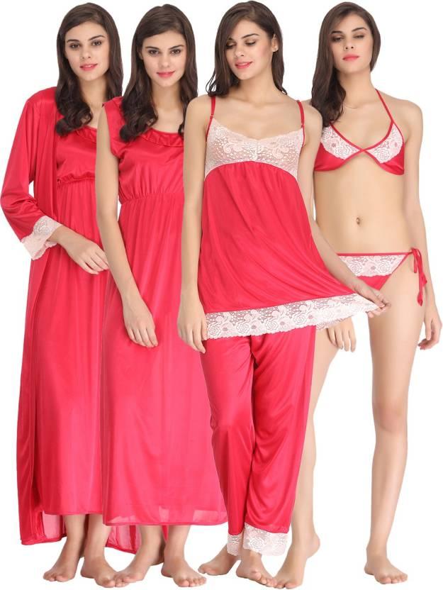Clovia Women Nighty Set - Buy Pink Clovia Women Nighty Set Online at ... 4cc420806