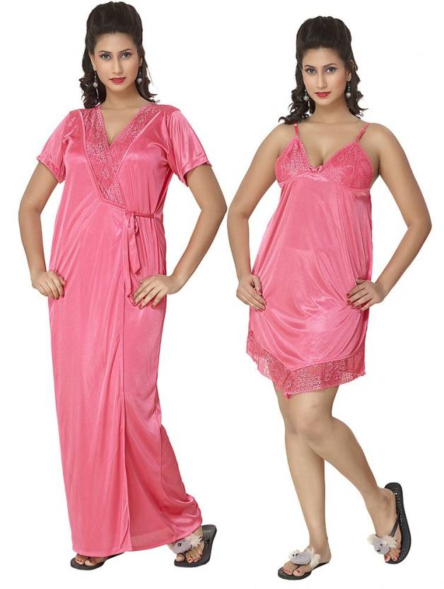 KuuKee Women\'s Night Wear - Buy DarkPeach KuuKee Women\'s Night Wear ...