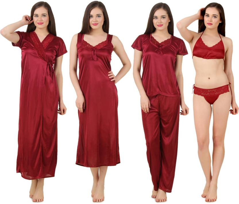 d72de0ce6e Fasense Women s Nighty - Buy Maroon Fasense Women s Nighty Online at ...