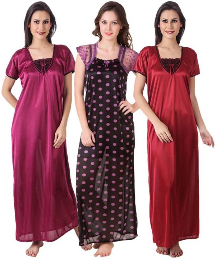 Masha Women s Nighty - Buy Maroon Masha Women s Nighty Online at ... 2b36369ae