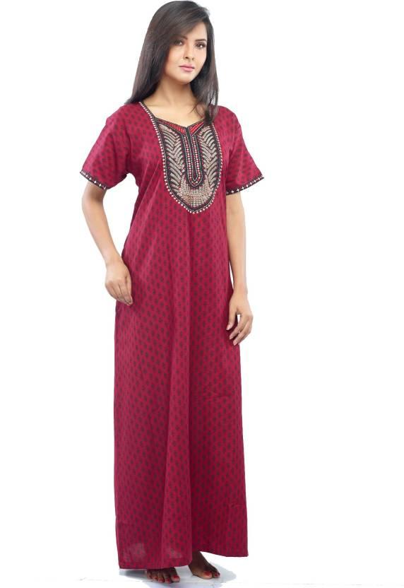 e21e947d83b Juliet Women s Nighty - Buy D Maroon Juliet Women s Nighty Online at ...